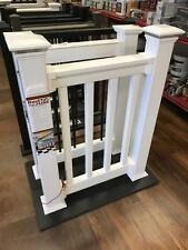4' Level Kit of Overstock RDI Finyl Line White Vinyl Deck Porch PVC Railing