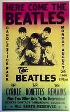 Beatles Concert Poster Candlestick Park 1966