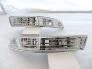 ~Clear Bumper Lights Parking Turn Signal Lamps Pair Fot For 94-97 Acura Integra