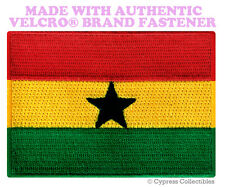 GHANA FLAG PATCH AFRICA EMBROIDERED SOUVENIR APPLIQUE w/ VELCRO® Brand Fastener