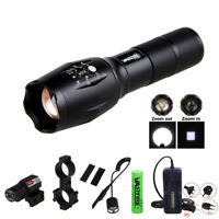 Zoomable 5000LM Tactical Scope Mount Flashlight Lamp Hunting Gun Air Rifle Torch