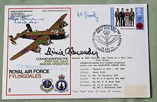 RAF COVER SIGNED BY LUFTWAFFE PILOT HAJO HERRMANN & RICHARD ALEXANDER USAF