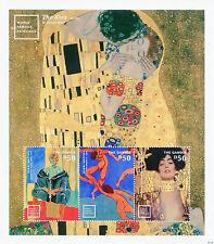 Gambia Art Stamps 2014 MNH World Famous Paintings Gustav Klimt Matisse 3v M/S II