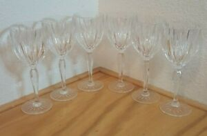 SET OF 6 WATERFORD MARQUIS OMEGA STEM BALLOON WINE GOBLETS 9 INCHES HOLDS 6 OZS