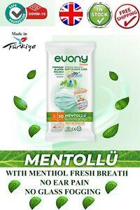 Evony Soft Elastic Ear Pain Free Surgical Mask Menthol Fresh Breath No Glass Fog