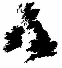United kingdom UK GB Map Sticker Decal Graphic Vinyl Label Black