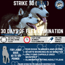 Super Flea killer for Large Dogs, one use lasts up to 30 days! 6 uses = 6 months