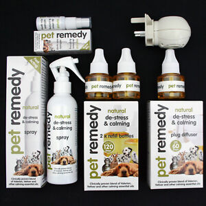 PET REMEDY CALMING SPRAY/DIFFUSER/REFILL HELPS DOG CAT HORSE BIRD STRESS - RSPCA