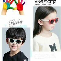 Kids Polarized Sunglasses UV Rectangular Boys Girls Shades Fashion Children C373