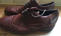 Mens Anatomic Gel & Red  Tan  Leather Lace Up Brogues Shoes UK 7 Eu 41