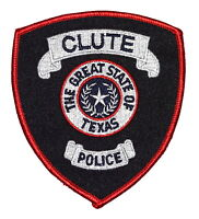 CLUTE TEXAS TX Police Sheriff Patch LON STAR STATE SEAL WREATH ~