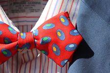 Bow Tie Club Red, Blue, Gold, Green Diamond Point Pre-Tied Silk Bow Tie - USA