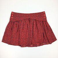 French Connection Skirt Size 12 Women's Orange Blue Printed Mini Chiffon $98
