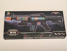 TOY M-16 Assault Rifle with Colored Flashing Lights Sound Vibration