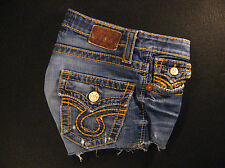 "Big Star ""Liv"" CUTOFF JEANS SHORTS Cut Off W 29 Daisy Duke Hot Pants Low Rise"