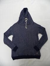 Roxy Women Apolo Bay Navy Blue L/S Pullover Crew Hoodie Sweatshirt Sz Medium