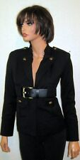 NWOT Vince Camuto Belted Waist Brass Buttons Navy Blue Military Jacket Sz 2P