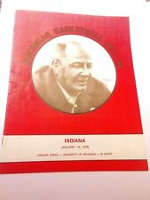 1975-76 Michigan Wolverines Indiana Hoosiers Basketball Program National Champs