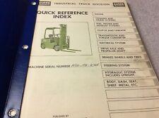 Clark Equipment H50 Forklift Parts Book Manual