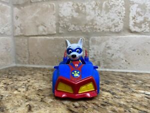 SPIN MASTER SML PAW PATROL RESCUE RACERS APOLLO THE SUPER PUP TOY HTF