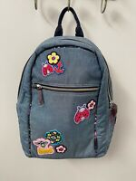 Vera Bradley VBU Backpack in Denim Blue Chambray w/ Patches NWT - MSRP $110