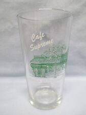 Pepsi Logo ~ Cafe Supreme ~ Pizza Supreme Subs & Salads ~ Drinking Glass