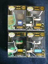 Funko Pop! BATMAN 80 Years Exclusive BATMAN Set of 4 (Four) 253, 270, 315 & 318