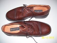 MENS LEATHER DRESS SHOES BY BRASS BOOT SIZE 13 MANS MADE IN ITALY, FREE SHIPPING