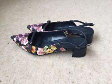 M&S SLINGBACK SHOES. Collection Range. Size 3.1/2 Insolia Flex' Navy floral