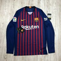 NIKE FC BARCELONA HOME LONG SLEEVE STADIUM JERSEY Size S SMALL 919061 456