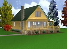 Cabin w/Loft 24x32 Plans Package, Blueprints & Material List
