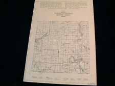 Vtg Map 1941 WEXFORD County Conservation DNR MICHIGAN