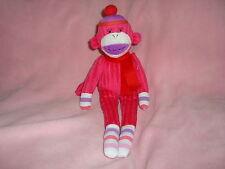 "Genuine Monkeez & Friends Pink Plush & Beans Monkey 13"""