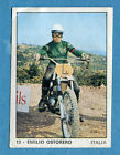 MOTO 2000 - Panini 1972 -Figurina-Sticker n. 13 - EMILIO OSTORERO -Rec