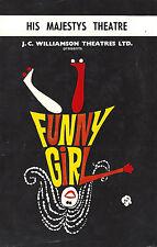 "Jill Perryman ""FUNNY GIRL"" Evie Hayes / Jule Styne 1967 Perth, Australia Flyer"