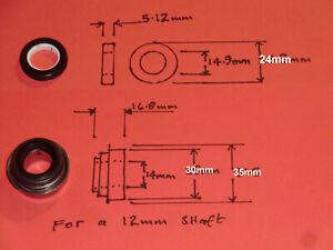 YANMAR WATER PUMP MECHANICAL SEAL 12mm shaft 30mm bore 24mm cer/rub B127:G829