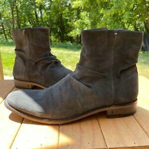 John Varvatos Morrison Sharpei Boot Size 10 US Gray Zip Italy