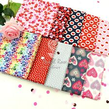 Valentine Love Hearts printed Cotton Fabric 100% Cotton Material Craft