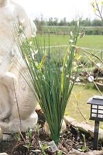 70 cm Dekogras mit weißen Blüten Deko Gras Kunstgras Ziergras Kunstpflanze