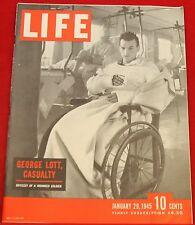 Life Magazine January 29, 1945 Ads Shell Oil, Packard Near Mint Condition