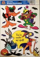 Looney Tunes Bugs Bunny& Friends Halloween Static Color Cling Window Decorations