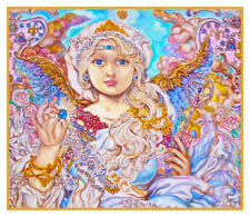 Angel of Blue Crystals  Contemporary Yumi Sugai Counted Cross Stitch Pattern