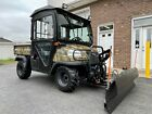 ONE OWNER AS NEW HUNTER CAMO KUBOTA RTV 900, HEATED CAB, FULLY HYDRAULIC PLOW For Sale