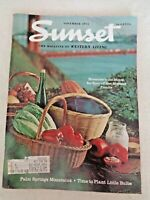 Sunset Magazine Nov 1971 Morro Bay clam diggers Puerto Vallarta burro polo Ghost