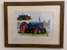More details for framed mounted picture print fordson power major tractors 1/250 ltd ed a4