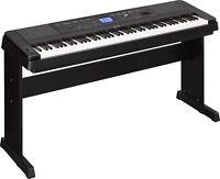 Yamaha DGX660B 88-Key Portable Grand Piano Keyboard Arranger w/ Stand