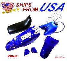 YAMAHA PW50 PW 50 PLASTIC FAIRING FENDER SEAT GAS TANK KIT BLUE