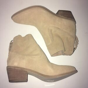 Joie Womens Adria Suede Ankle Booties Boots Powder EU 36 US 6 New