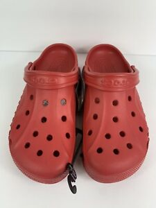 Crocs Baya Croslite Clog, Pepper Red, Men's US Size 9 / Women's US Size 11 NWT