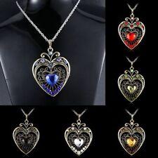 Alloy rhinestones Love heart Fashion Necklaces & Pendants